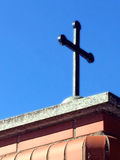 Cross on a blue sky Royalty Free Stock Photo