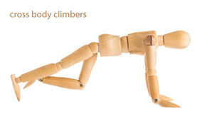 Cross body climbers pose Royalty Free Stock Image