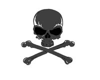 Cross-bone skull 1 Stock Images