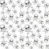 Cross bones pattern Stock Image