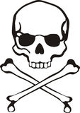 Cross bones skull vector illustration