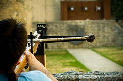 Cross Bow Shooting Stock Photography