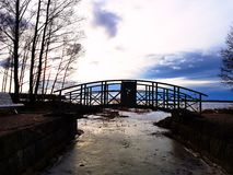 Cross Bridge. A cross bridge view Royalty Free Stock Image