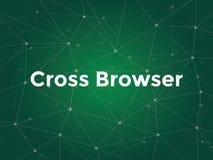 Cross browser technology terms in website development vector illustration