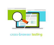 Cross browser testing web software development process methodology Royalty Free Stock Image