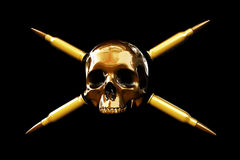 Cross bullet skull Royalty Free Stock Image
