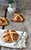Cross buns Stock Photo