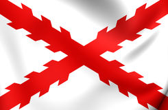 Cross of Burgundy Flag Royalty Free Stock Photo