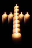 Cross of burning candle 2 Stock Photos