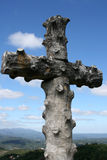 The cross in Bussaco forest Stock Photos