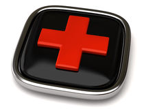 Cross button Royalty Free Stock Photo
