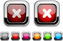 Cross button. Royalty Free Stock Images