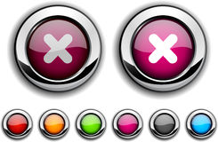 Cross button. Stock Images
