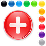 Cross button vector set Stock Photo