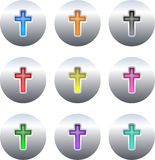 Cross buttons stock illustration