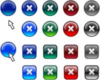 Cross buttons. Stock Photos
