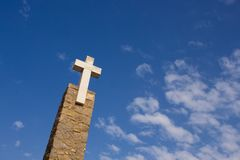 Cross, cabo da roca Stock Photo