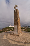 Cross in Cabo da Roca Royalty Free Stock Photos