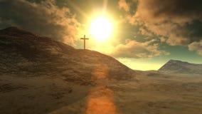 Cross on Calvary stock video