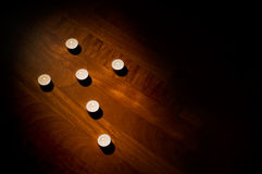Cross of candles Royalty Free Stock Photography