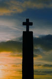 Cross, in cape of Roca stock photography