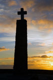 Cross, in cape of Roca Royalty Free Stock Images