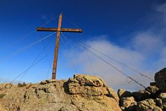 Cross at Capu di a Veta, Calvi Stock Image