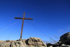 Cross at Capu di a Veta, Calvi Stock Photography