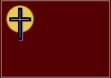 Cross card Stock Image