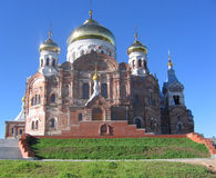 Cross Cathedral. The Cathedral is located in Kungur region of Perm region. Belogorskij cathedral built in Byzantine style Royalty Free Stock Image