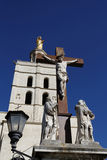 The cross of Cathedral in Avignon Stock Photo