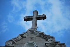 Cross of the Cathedral of San Francisco de Asís, Republic of Panama. Celestial cross belonging to an ancient cathedral of the Republic of Panama, historical Stock Photo