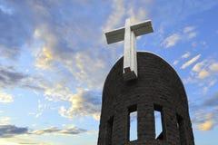 Cross Catholic Church tower. Eastphoto, tukuchina,  Cross Catholic Church tower Stock Photos