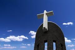 Cross Catholic Church tower. Eastphoto, tukuchina,  Cross Catholic Church tower Royalty Free Stock Photo