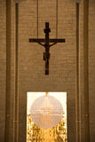 Cross - Catholic Religion. Symbols of faith and respect for the Catholic Church and Catholics in the world, the Christian religion Stock Images
