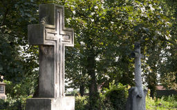 Cross at the cementery Stock Images
