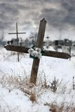 Cross on a cemetery Royalty Free Stock Photo