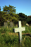 Cross in cemetery Stock Image