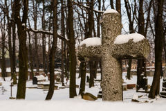 Cross on the cemetery Stock Photography