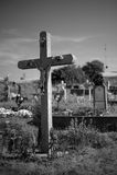 Cross on cemetery Royalty Free Stock Photos