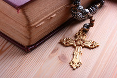 Cross with chain Royalty Free Stock Image