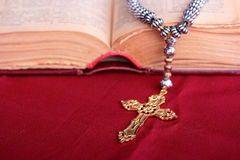 Cross with chain Royalty Free Stock Photos
