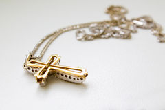 cross on a chain Royalty Free Stock Images