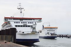 Cross Channel Ferries Royalty Free Stock Photos