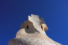 Cross chimney by Gaudi Royalty Free Stock Image