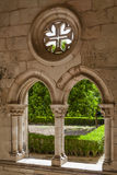 The Cross of Christ in the Dom Dinis cloister in Alcobaça Monastery Royalty Free Stock Photography
