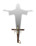 Cross with Christ Shadow Stock Photography