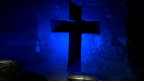 Cross, Christian, Statues, Religion stock footage