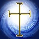 Golden Cross Christian Symbol  Stock Photography