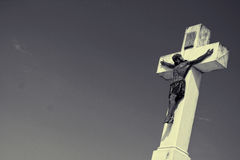 The Cross. Christianity cross and sky background Royalty Free Stock Photo